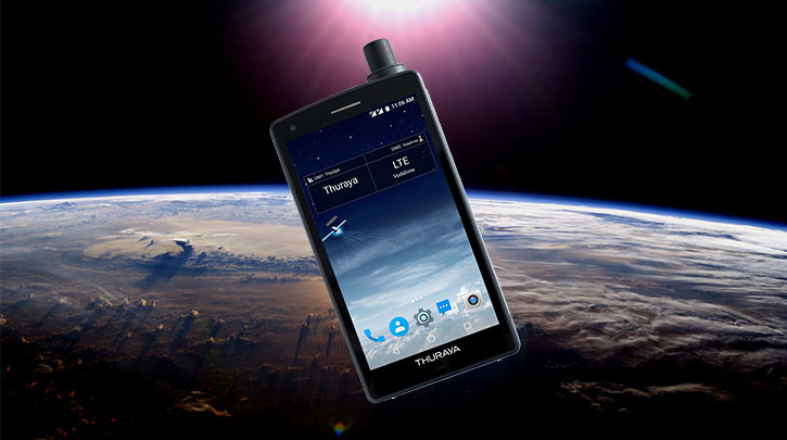 telefono satellitare in orbita