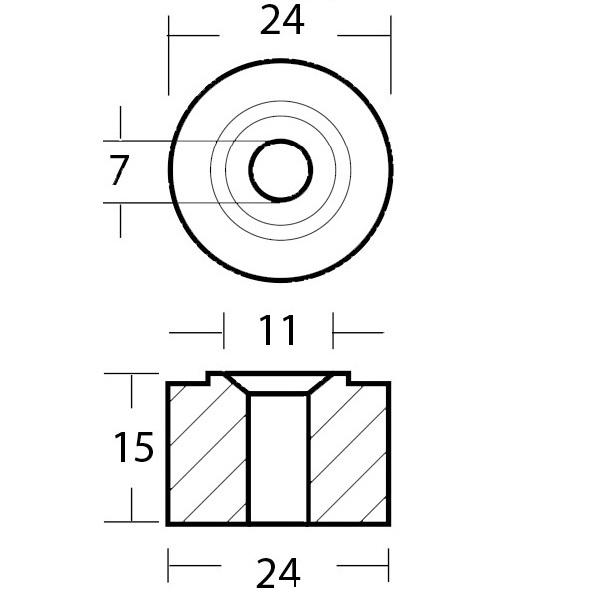 Anodo rondella per collettori motori Honda 4329222 2
