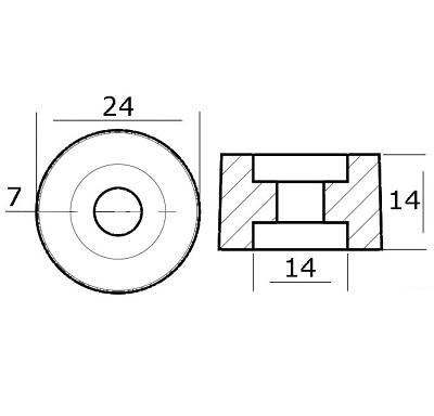 Anodo rondella per collettori motori Honda 4329231 2