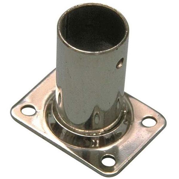 Base quadrata dritta 90° in Acciaio Inox stampata
