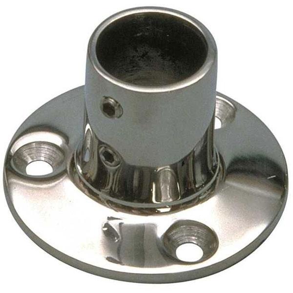 Base tonda dritta 90° in Acciaio Inox AISI 316 da fusione