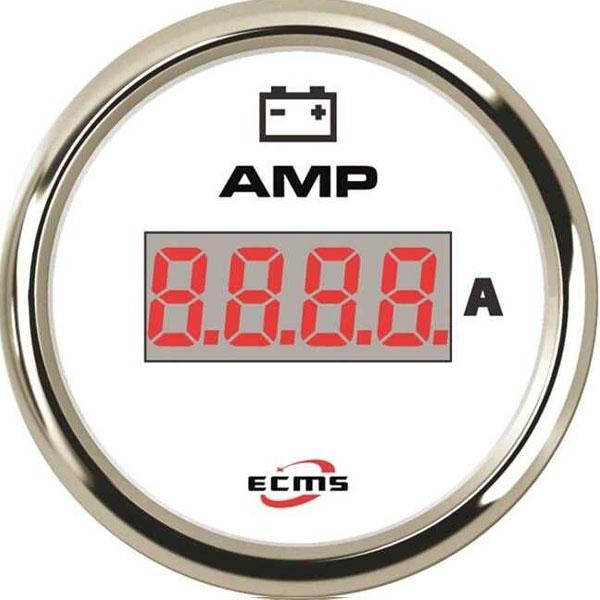 ECMS bianco cornice inox amperometro