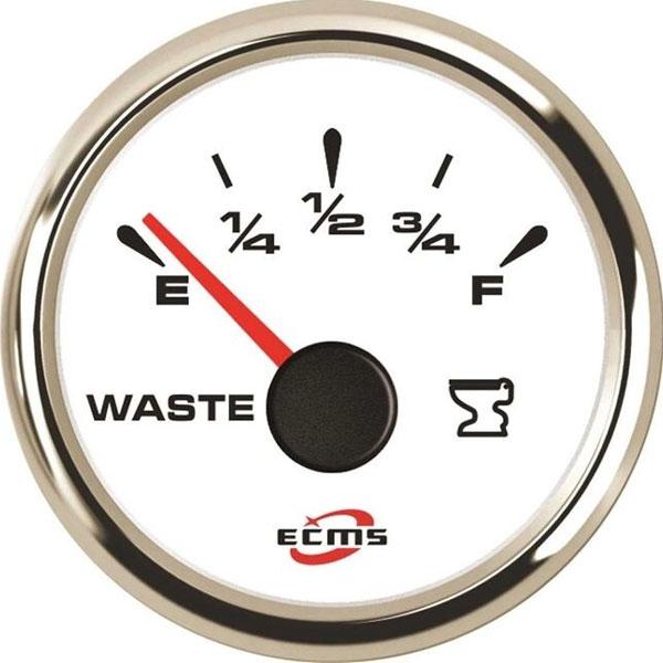 ECMS bianco cornice inox waste