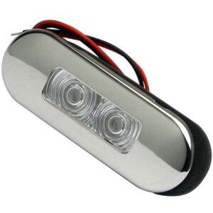 Luce di cortesia Elliptic a incasso Inox LED