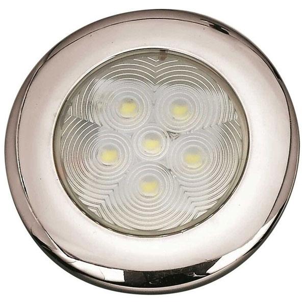 Plafoniera Top Round a incasso Inox LED