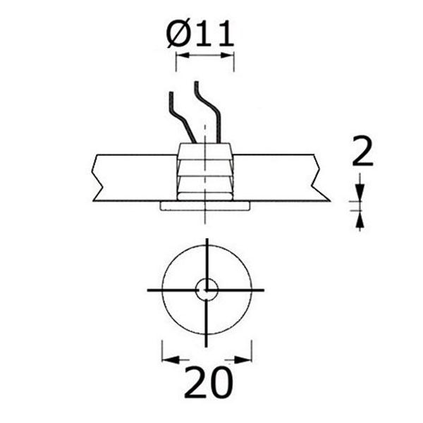 Luci di cortesia LED Apus R misure