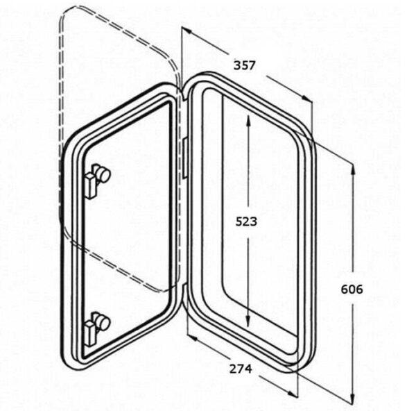 Portello calpestabile rettangolare grande misure