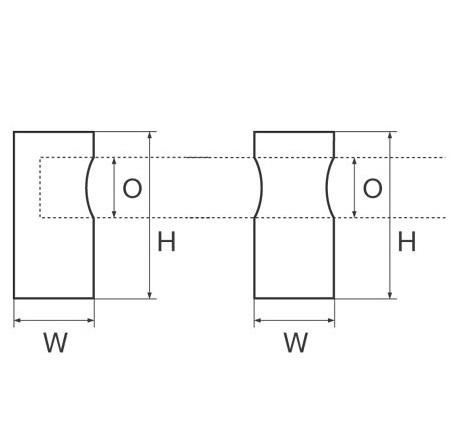 Supporti passamano cilindrici misure