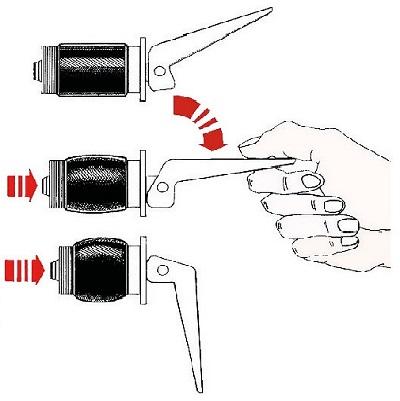 Tappo espansione ottone cromato 2