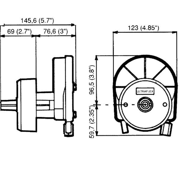 Timoneria Ultraflex T67 misure
