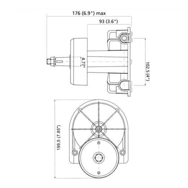Timoneria Ultraflex T71 misure