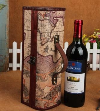 contenitore vino legno mappa