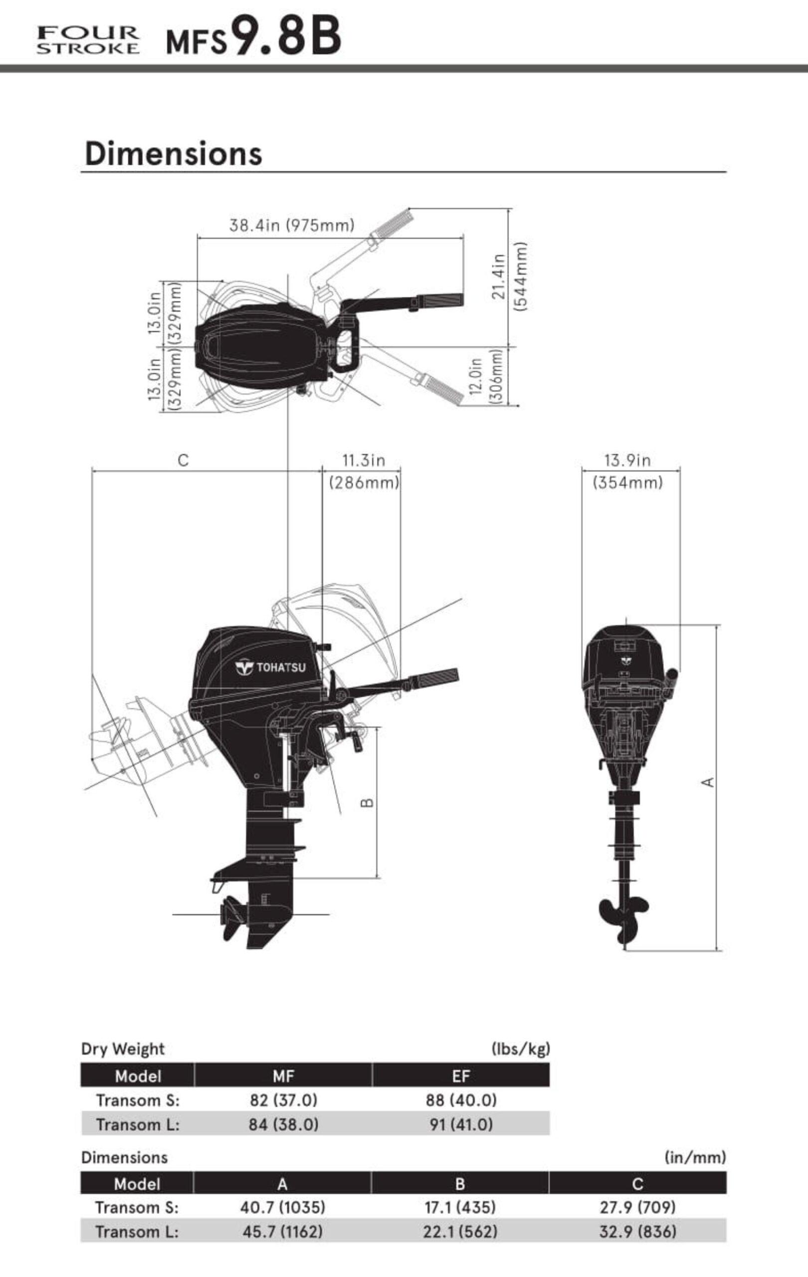 tohatsu MFS 9.8 misure scaled