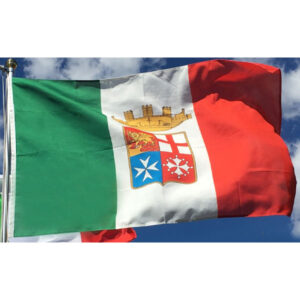 Bandiera Italiana con le 4 Repubbliche Marinare