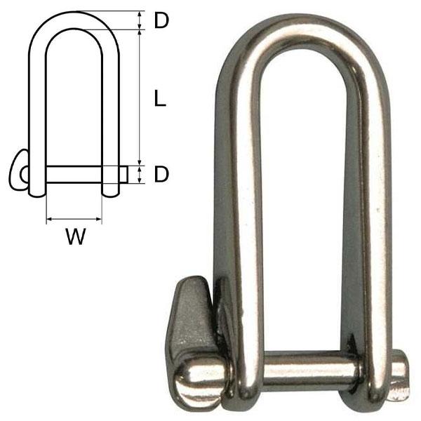 Grillo lungo a scatto key pin in acciaio inox