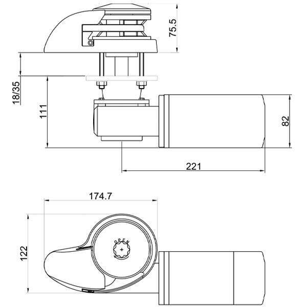 Verricello salpancora inox Italwinch Smart 500W misure