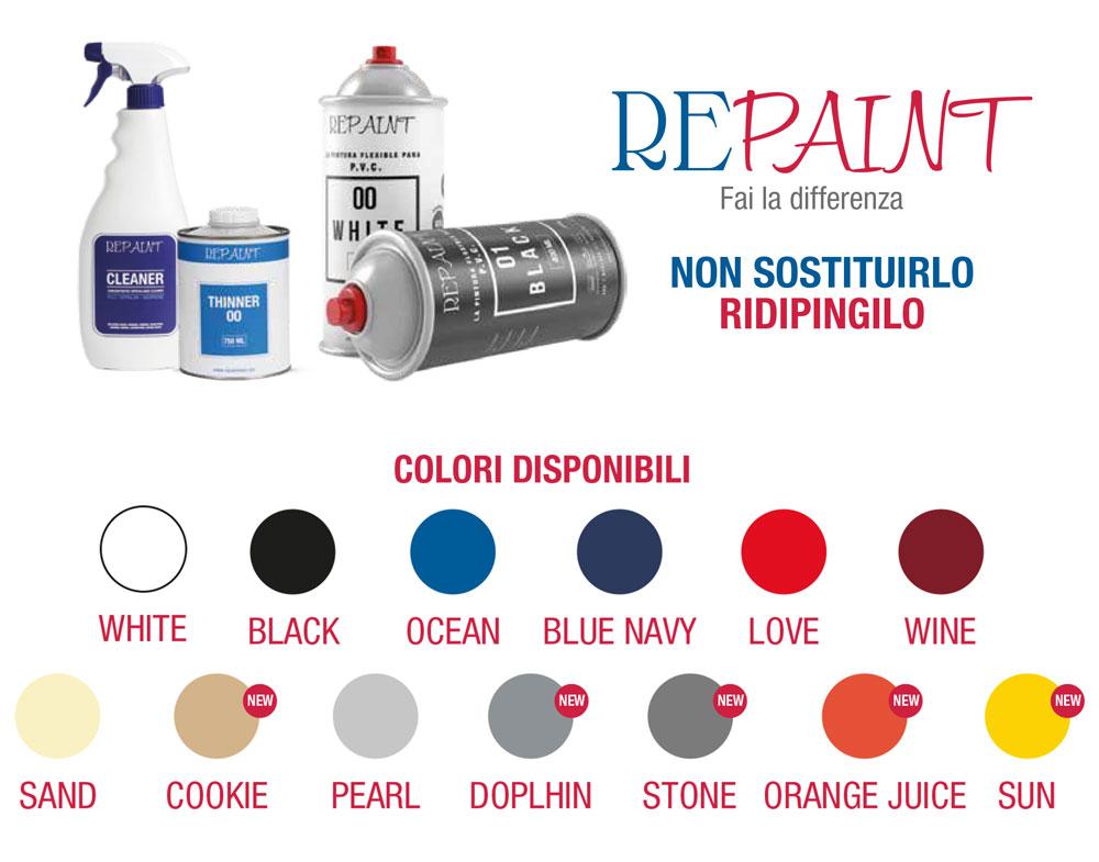 repaint Tabella colori
