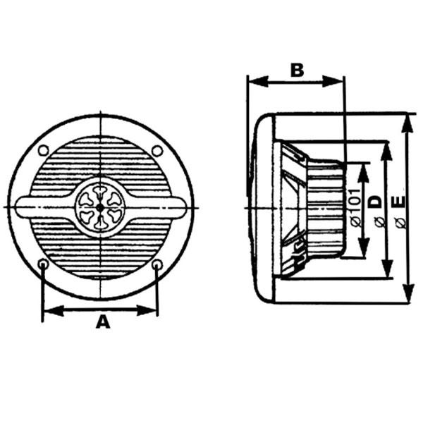 Altoparlanti TREM doppio cono 15 cm misure 1